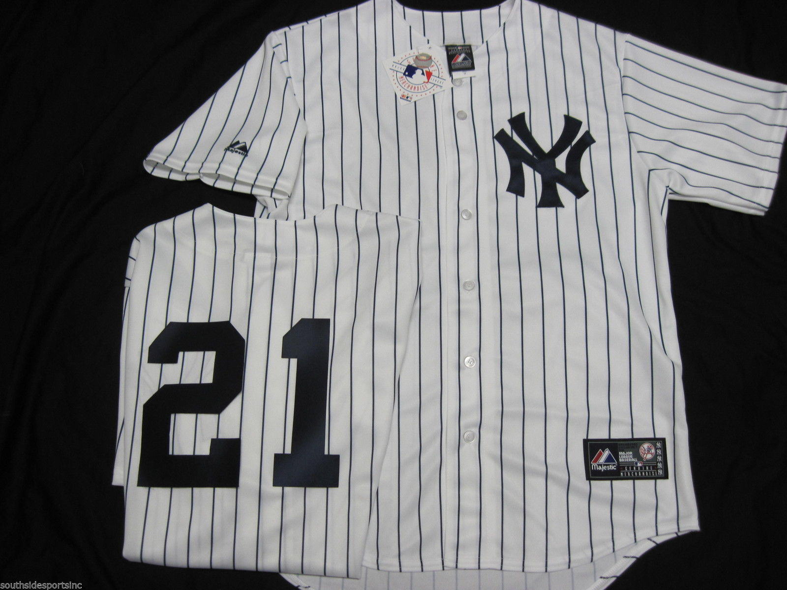 official photos a751a 24cc7 Paul Oneill Pinstripe Yankees Jersey Majestic