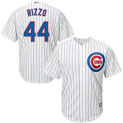 89a96580197 Men s Chicago Cubs Anthony Rizzo Majestic White Cool Base Player Jersey