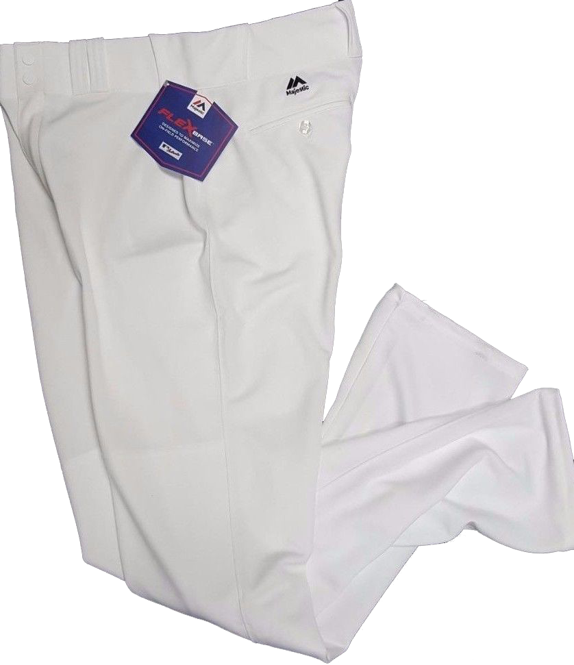 6a529f990 Solid White Pro Majestic Flex Base Baseball Pants – Southside Sports