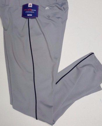 8d11dd083 Grey Black Piping Majestic Flex Base Pro Baseball Pant 37 Inseam