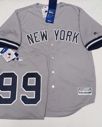 9942a8c1969 AARON JUDGE YANKEES MENS GREY COOL BASE JERSEY PICK SIZE MAJESTIC